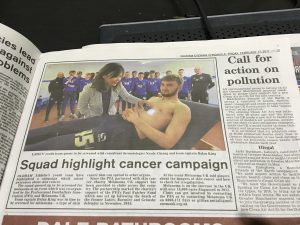 Skin Cancer Awareness Campaign at Oldham Athletic Football Club